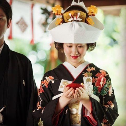 #川越氷川神社 #神前結婚式 #黒引き振袖 #和装 #kawagoehikawashrine #wedding kawagoe_hikawa 川越氷川神社