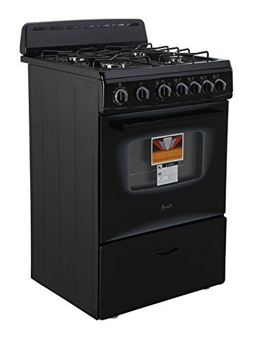 AVANTI GR2415CB Gas Range Sealed Burners, 24', Black -- Learn more by visiting the image link.