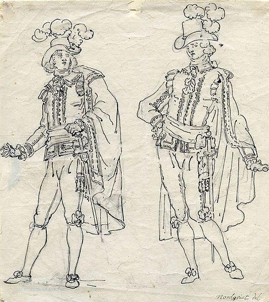 Fil:Två herrar i svenska dräkten. Odaterad teckning av Pehr Nordqvist (1770-1805) - Nordiska Museet - NMA.0054241.jpg