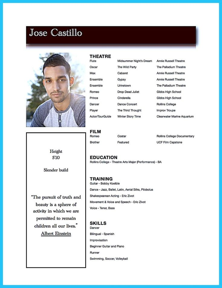 The 25+ best Acting resume template ideas on Pinterest   Resume ...