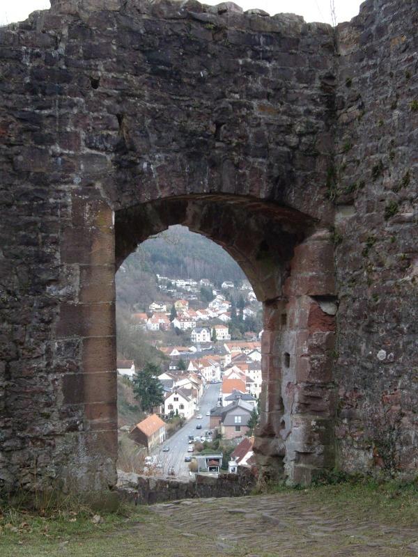 Doorway in castle ruins of Neckarsteinach, Germany. One of my favorite places visited.