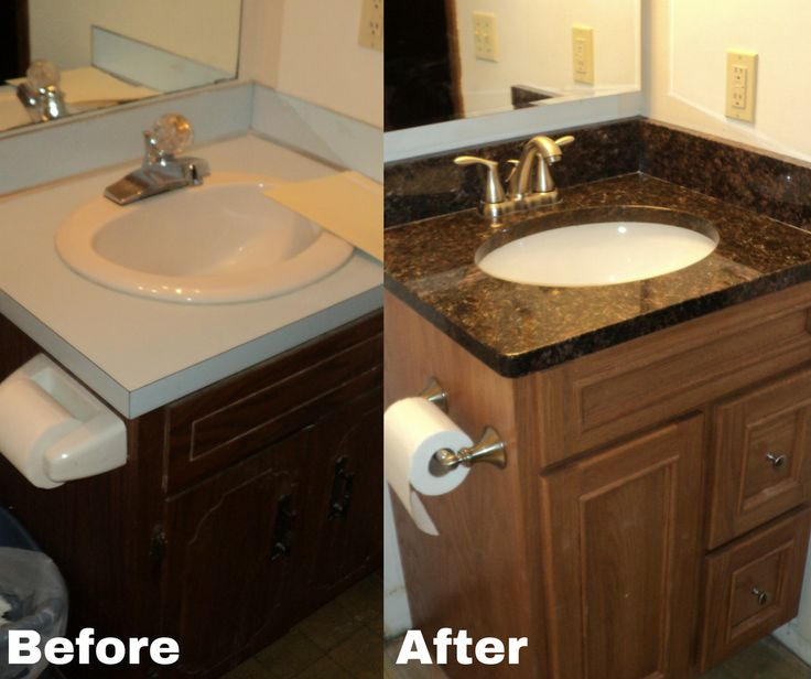 This features an Onyx countertop which looks identical to marble or granite countertops.
