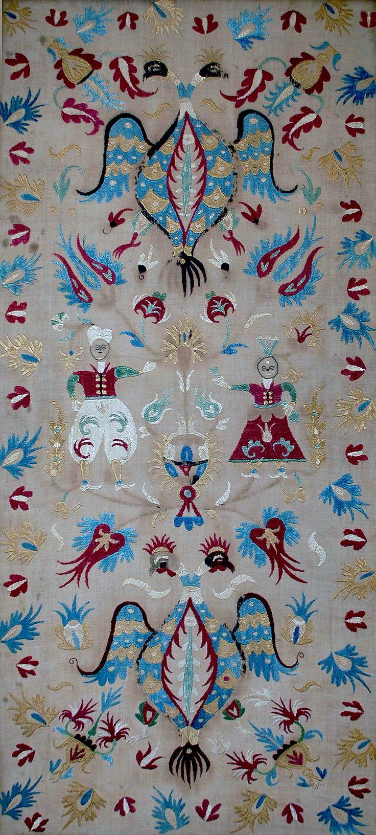 Antique Greek Skyros Silk Embroidery