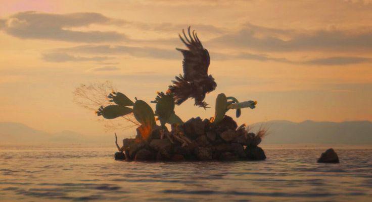La fundación de Mexihco-Tenochtitlan de acuerdo al portento vaticinado por Huitzilopochtli, un águila parada sobre un nopal @RoyCampos