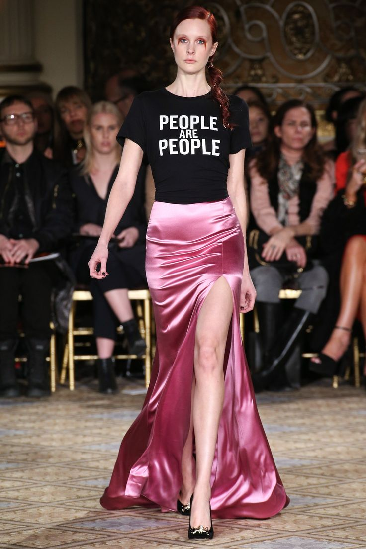 Powerful Positive Statements at Christian Siriano | Fall 2017 Ready-to-Wear Fashion Show #nyfw