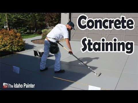 How to stain a concrete driveway fast and easy - YouTube