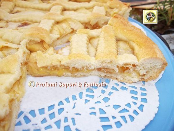 Crostata di mele e marmellata di pesche  Blog Profumi Sapori & Fantasia