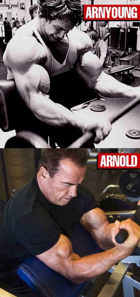 """""""I'll be back!"""" Arnold's muscle building lives on! www.xpisupplements.com"""