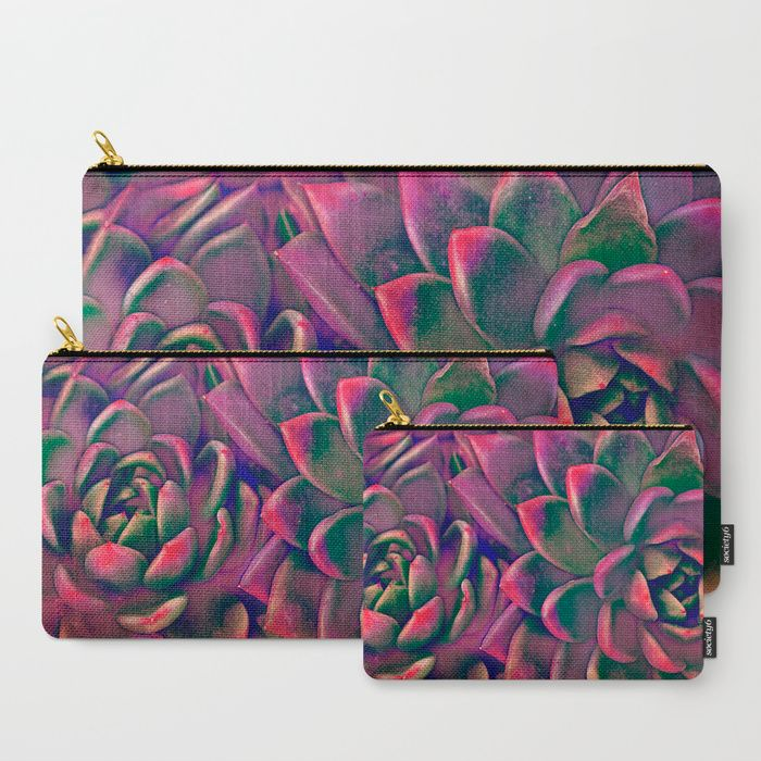 Green & violet succulent Art Print by Mary Berg. Worldwide shipping available at Society6.com. Just one of millions of high quality products available.