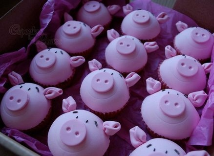 Percy Pig cupcakes  Cake by CupcakesbyLouise