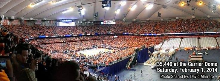 SU Duke basketball game in The Dome breaks all attendance records 35,446 Final Score 91-89 SU wins
