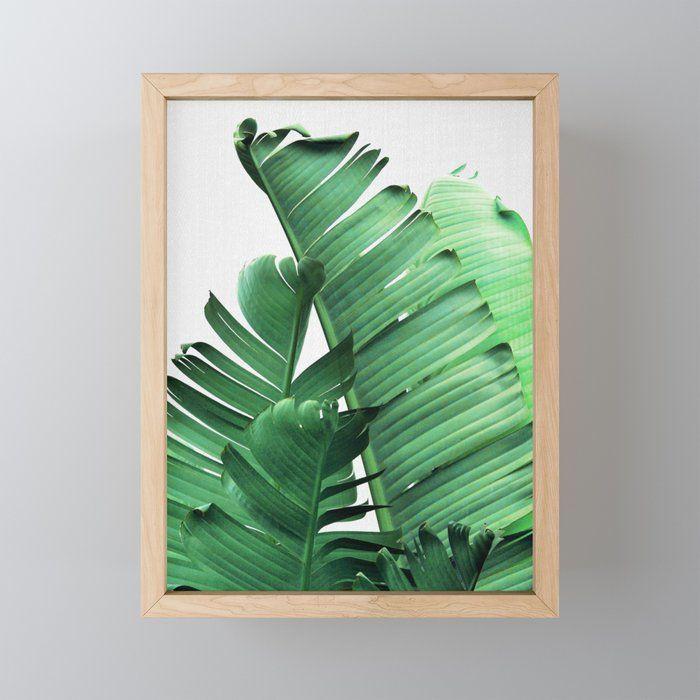 Banana Leaves Framed Mini Art Print By Galdesign Framedminiartprint Collage Digital Banana Leaf Leaves Mini Art Art Prints Art