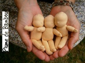 Tiny Waldorf dolls. These would be great fun to make. I can see all the little characters I could turn these into!