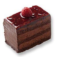 Pure decadence. Jean Paul Hevin's chocolate framboise cake.