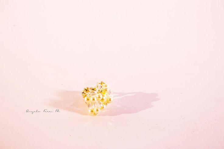 Anello Rossella con perline