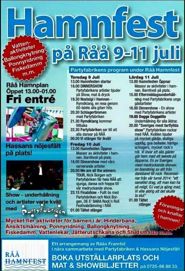 Hamnfest på Råå 9-11 juli 2015