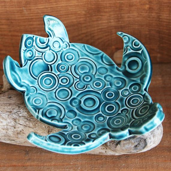 Ceramic Dish - Use a slab cut in a shape - then curve to form a dish - nice clay project