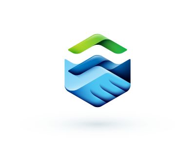 Handshaking #logo #design #inspiration