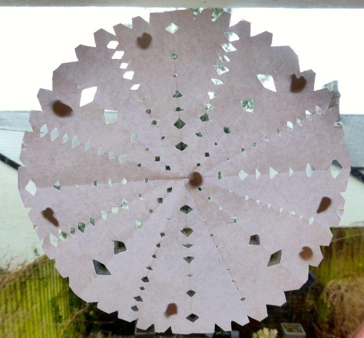 Retro Paper Snowflakes Craft