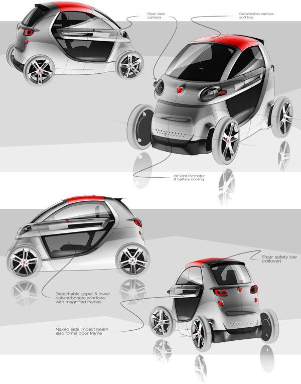 Fiat Zero by Tigran Lalayan, via Behance