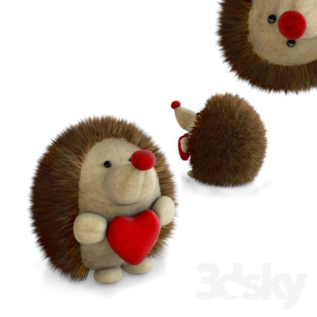 Soft toy hedgehog   3d model