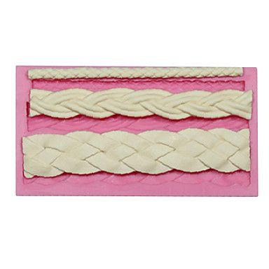 de silicona de chocolate esculpida herramientas de moldeo de encaje fondant trenzada molde de pastel cuerda decoración molde de silicona pastel – EUR € 5.99