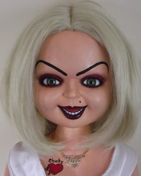 Tiffany bride of chucky makeup