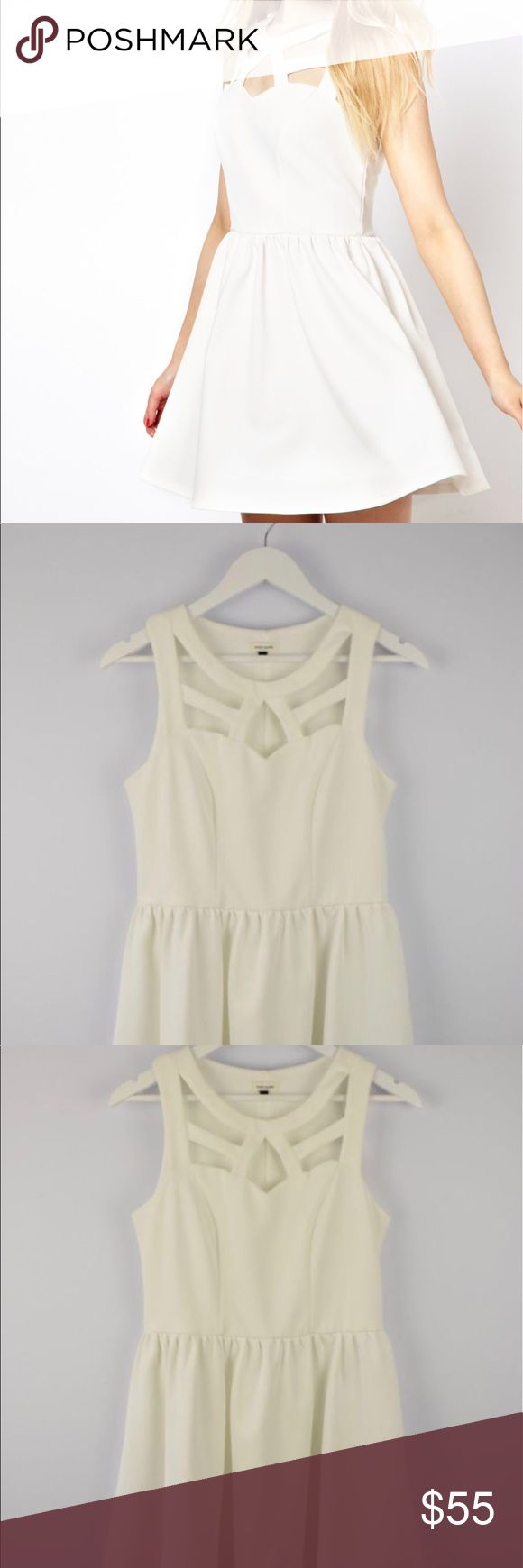 River Island Cut Out Detail Skater Dress Ready for summer Cut out skater dress in Crisp white. Photos courtesy of @asos River Island Dresses Mini