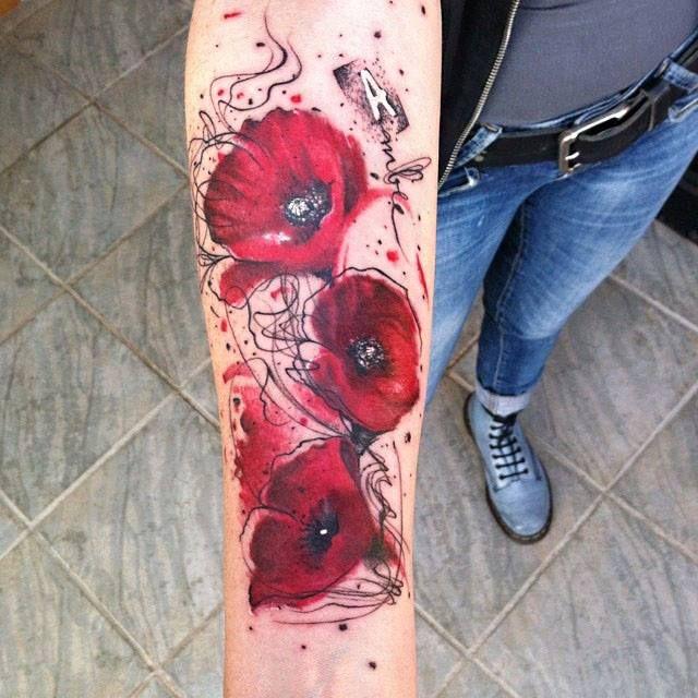 127 besten blumen und ranken tattoos bilder auf pinterest. Black Bedroom Furniture Sets. Home Design Ideas