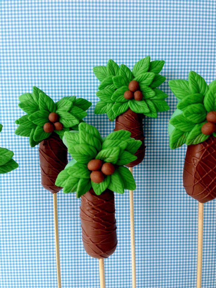 Cakepops coqueiro by @sugarcuore - instagran