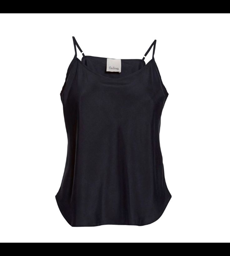 """SUST SILK Elegant camisole, dark blue.  Exclusive and simple camisole. The camisole has adjustable straps and is super soft. Limited. Made from 100% silk in """"dead stock"""", which means that it's made from residues from other collections. Because of that, the camisole is limited."""