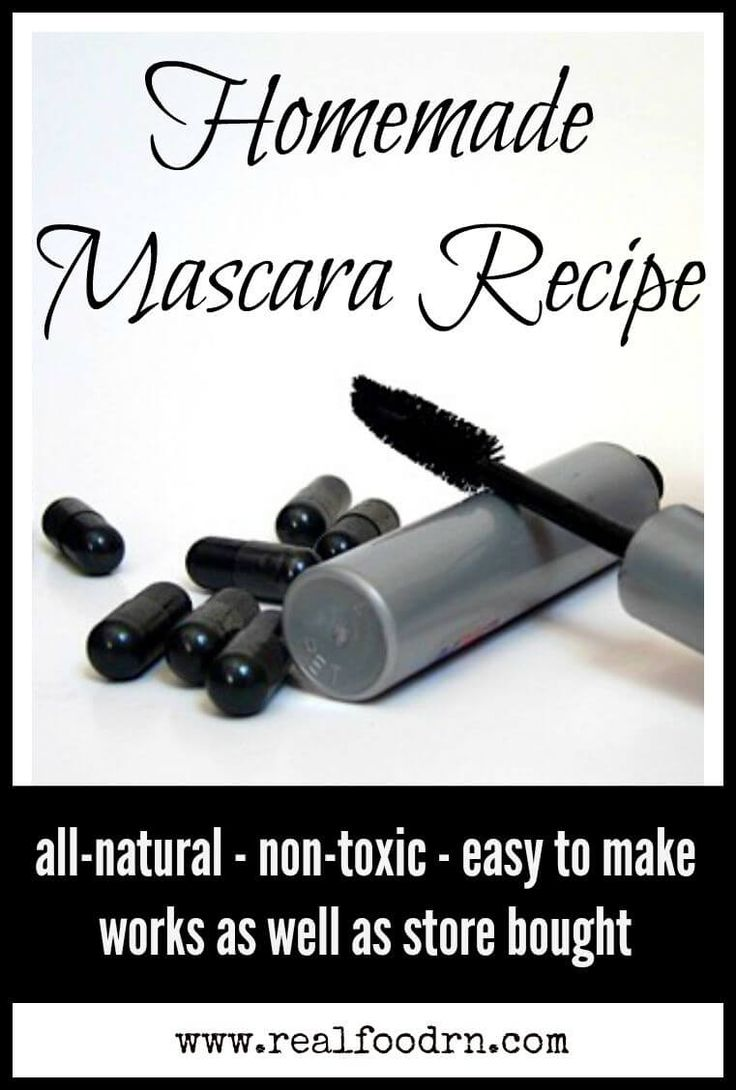 DIY mascara: coconut oil, shea butter, beeswax, jojoba oil activated charcoal, vitamin E -  Real Food RN