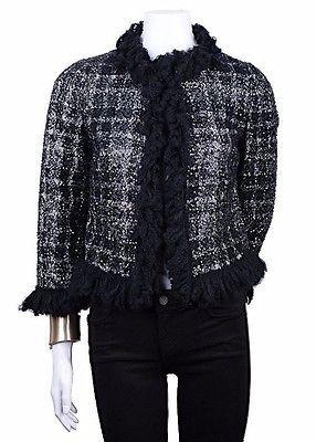 Удивительные Giambattista Valli роскошный твидовый пиджак с блестками Италия 40, Франция 38, США 6