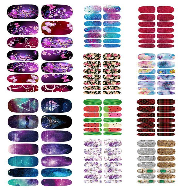 Nuevo 10 unids Nail Etiqueta Lote Estilo FLOR Frutas 3D Hoja Completa de Transferencia de Agua Nail Art Stickers Decals Wholesale