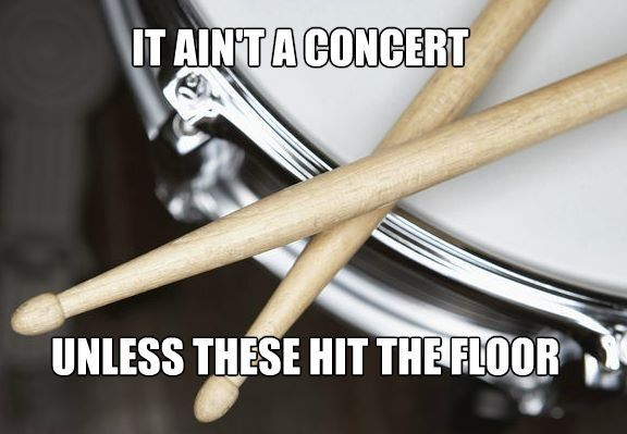 Percussion Problems.  And last time, we dropped drumsticks, stands, and entire trap tables!  Talent.