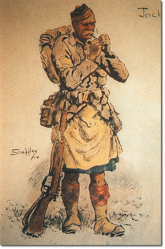 "British Empire: Armed Forces: Units: British Infantry: Gordon Highlanders ""Jock"""