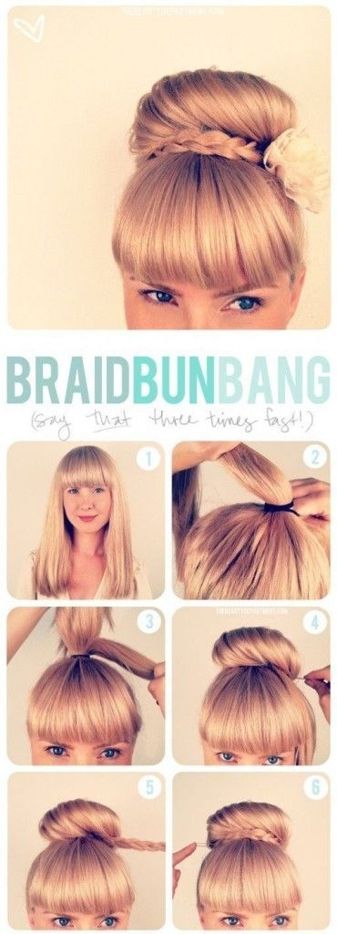DIY Braid Bun Bang Pictures, Photos, and Images for Facebook, Tumblr, Pinterest, and Twitter