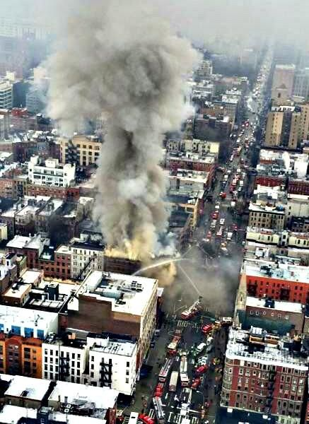 #BREAKING: Aerial view of building collapse @NYPD9Pct. Numerous rescue units on scene #SOD #ESU #K9 #Aviation #FD User Actions  March 26 4:26PM NYPD Special OpsVerified account ‏@NYPDSpecialops