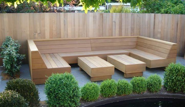 Hoekbank tuin hout google zoeken patio furniture ideas