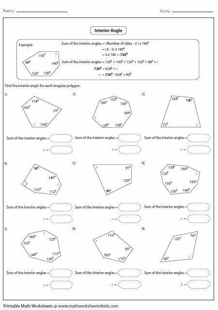 Interior And Exterior Angles Of Polygons – Cute766