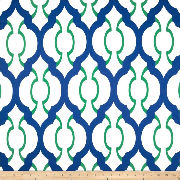 RCA Palladio Kelly Green from @fabricdotcom  Screen printed on soft polyester duck; this versatile medium weight fabric is perfect for window accents (draperies, valances, curtains and swags), accent pillows, duvet covers and upholstery. Create handbags, tote bags, aprons and more. Colors include Kelly green, royal blue and a white background. Made in the USA.