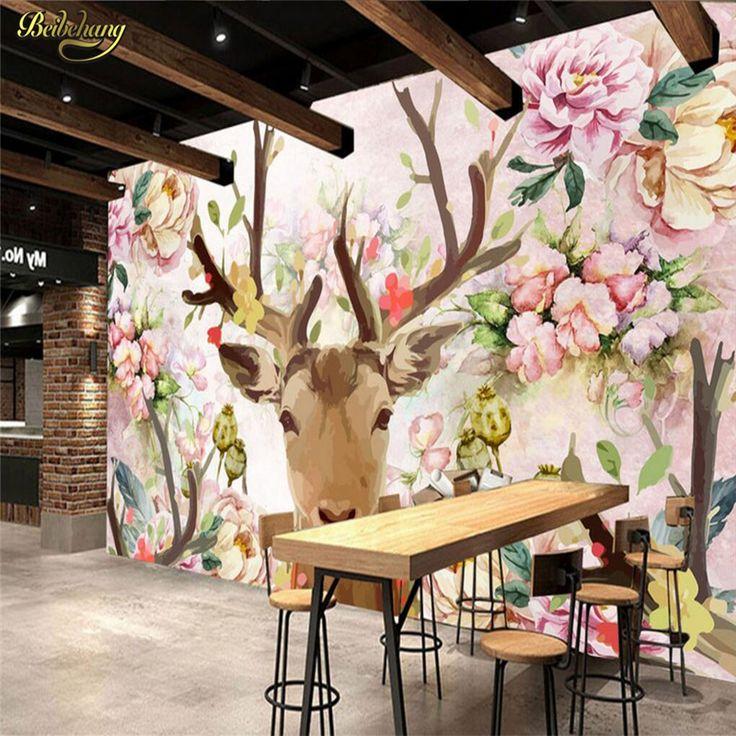 Veados beibehang personalizado peônia branca 3d mural papel de parede tv cenário sofá expandir 3d foto papel de parede para paredes 3 d papel contact em Papéis de parede de Melhoramento Da casa no AliExpress.com | Alibaba Group
