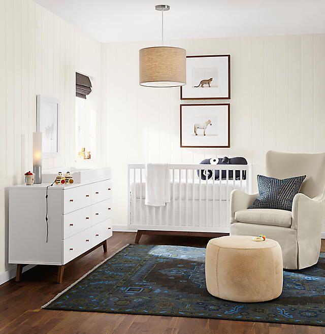 Flynn Crib With Toddler Conversion Rail Kids Room Board