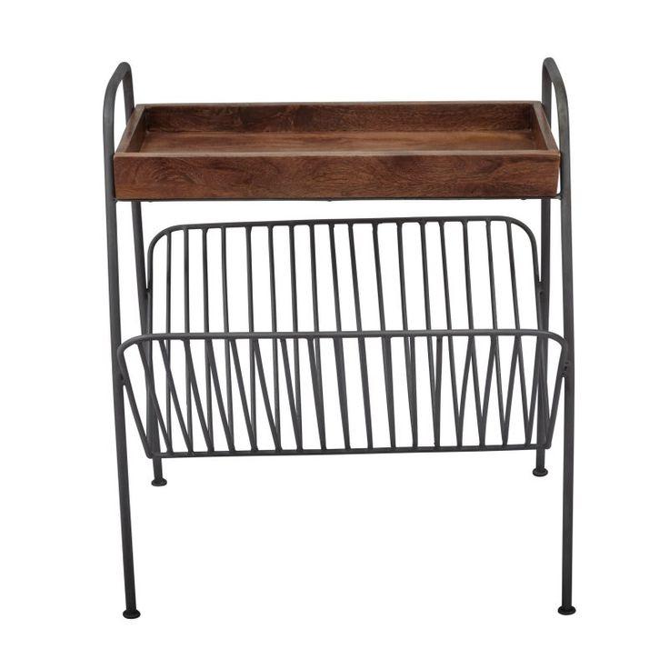 Jofran Global Archive Magazine Rack Chairside Table - 1730-32