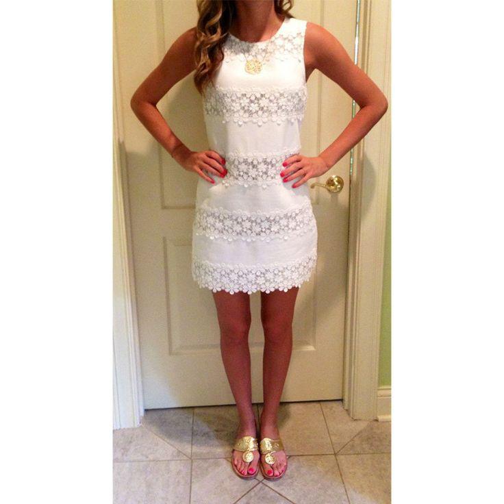 Lace Pure Color O-neck Sleeveless Short Dress