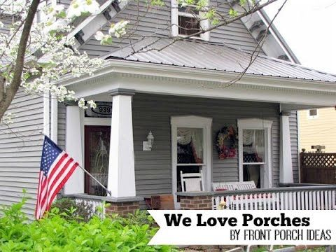 Craftsman Style Front Porch On Home In Madison Indiana. From Front Porch  Ideas And