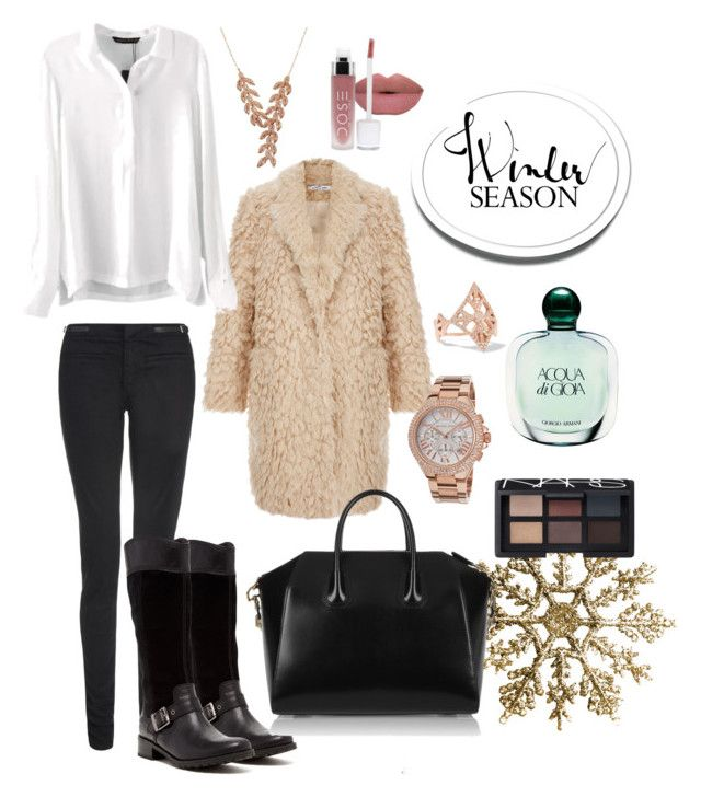 My style | winter by neeacamillaa on Polyvore featuring Elizabeth and James, dVb Victoria Beckham, Timberland, Givenchy, Michael Kors, Carbon & Hyde, Sidney Chung, NARS Cosmetics, Giorgio Armani and fashionset