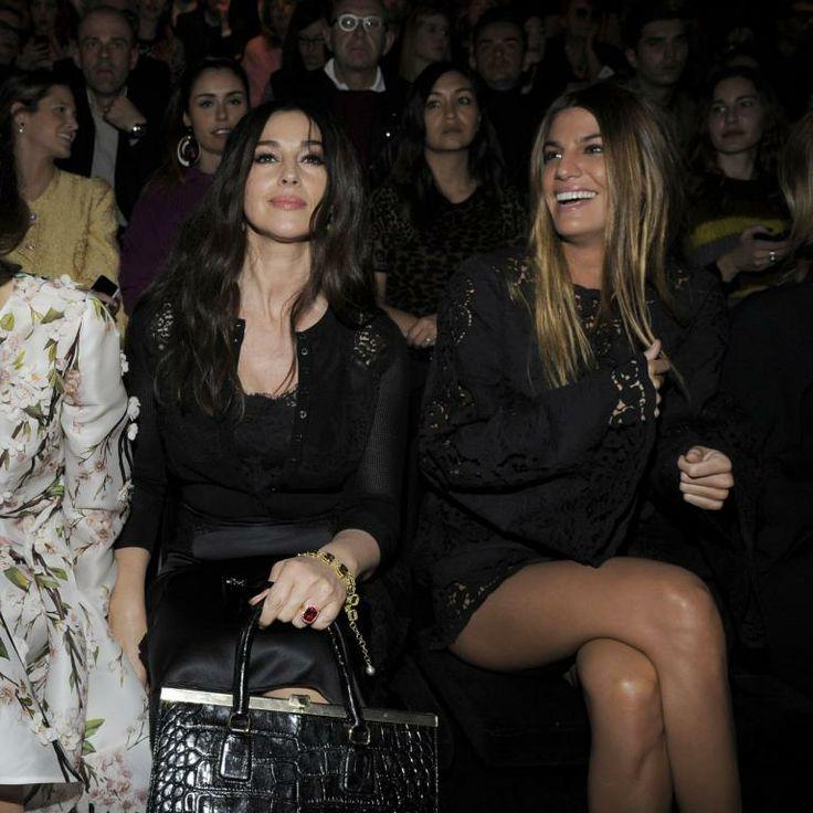 Kate King, Monica Bellucci et Bianca Brandolini d'Adda assistent au défilé Dolce & Gabbana automne-hiver 2014-15 à Milan. Le 23 février 2014.
