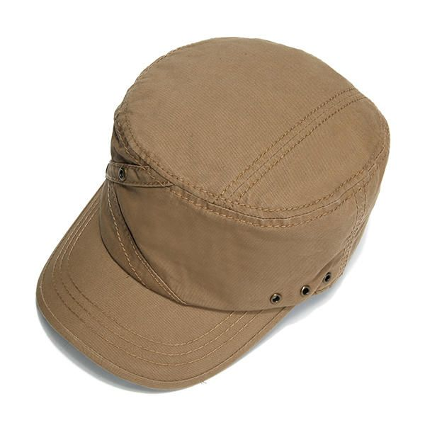 Us 20 99 19 Off Mens Cotton Breathable Flat Top Caps With Ventilation Holes Solid Sunshade Military Army Hat Men S Accessories From Apparel Accessories On B Army Hat Hats For Men Military Army
