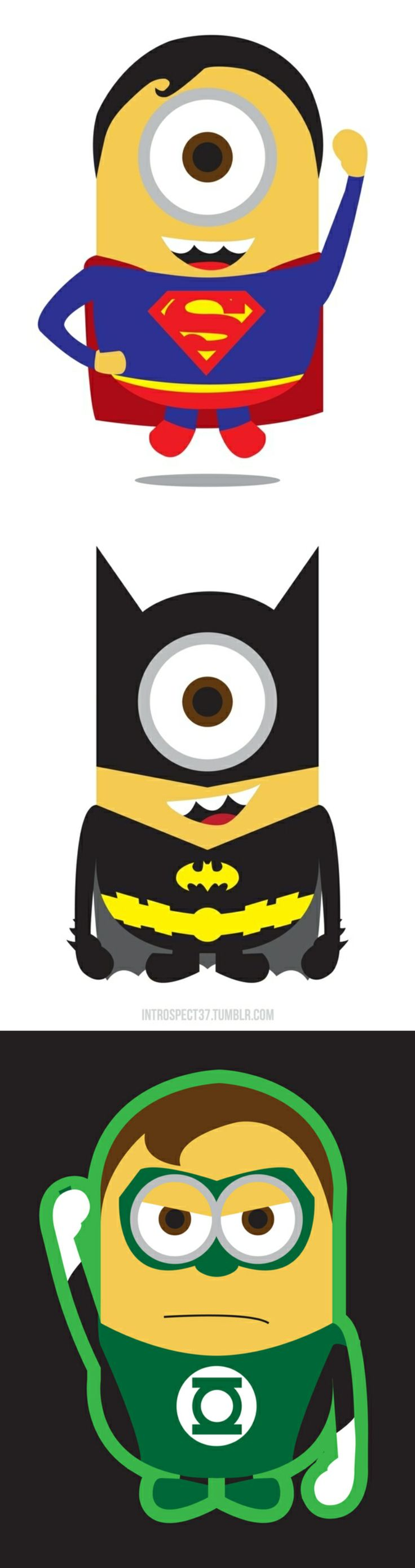 """Despicable Me"" Minions As DC Superheroes  The minions of the movie ""Despicable Me"" in their new alternate heroic adventures. By Kevin Magic Lam."